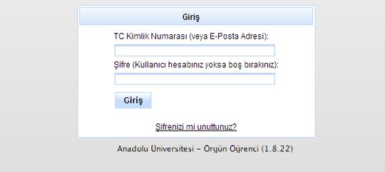 anadolu universitesi aof giris